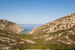 Port'Agro zatoka Corsica Fotografia Stock