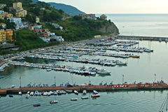 Port of Agropoli in Italy Stock Photo