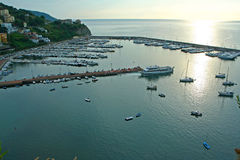 Port of Agropoli in Italy Royalty Free Stock Image