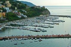 Port Agropoli w Włochy Zdjęcie Stock
