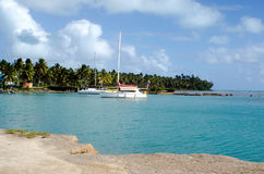 Port of Aitutaki in Aitutaki Lagoon Cook Islands Stock Photo