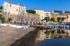 Port of Ajacciio, Corsica island, France Royalty Free Stock Photography