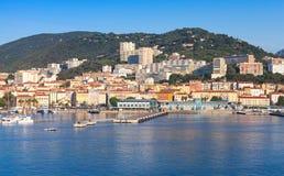 Port Ajaccio, Corsica kapitał Corsica Obrazy Royalty Free