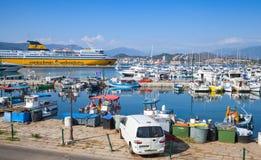 Port Ajaccio kapitał Corsica Obrazy Stock