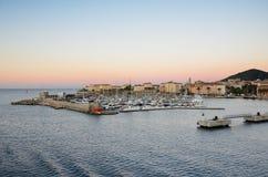 The port of Ajaccio at sunrise Stock Photos