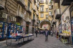 Port'Alba, resto de uma das portas da cidade de Nápoles fotografia de stock royalty free