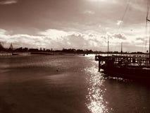 Port Albert, Victoria, Australia. Port Albert, Pier/ Jetty. Overlooking the new Boat ramp royalty free stock photo