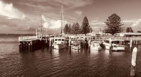 Port Albert, Victoria, Australia. Port Albert, Pier/ Jetty. Where the fishing boats rest stock photos