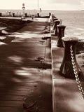 Port Albert, Victoria, Australia. Port Albert walk way, park and fishing time stock photos