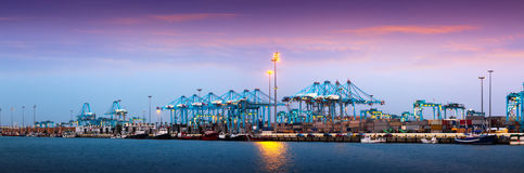 Port of Algeciras - one of  largest ports in Europe Stock Image
