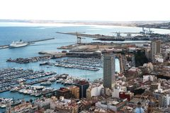 The port of Alicante. Stock Images