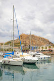 Port of Alicante. Yachts in port of Alicante, Spain Stock Image