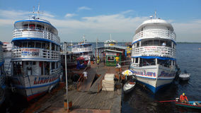 Port in Amazon River. A beautiful and rudimentary port on the Amazon River Stock Photography