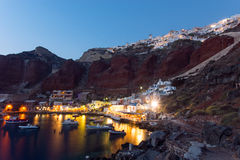 The port of Ammoudi royalty free stock photography