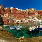 Port Amoudi d'Oia ou d'Ia, Santorini, Grèce Photo libre de droits