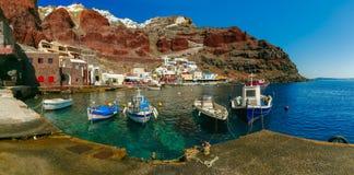 Port Amoudi d'Oia ou d'Ia, Santorini, Grèce Photo stock