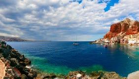 Port Amoudi d'Oia ou d'Ia, Santorini, Grèce Image libre de droits