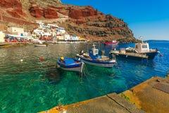 Port Amoudi of Oia or Ia, Santorini, Greece Stock Images