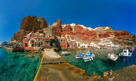 Port Amoudi of Oia or Ia, Santorini, Greece Royalty Free Stock Images