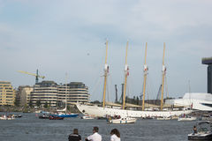 Port Amsterdam Holandia, holandie,/- Sierpień 23-08-2015 Zdjęcie Stock