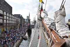The port of Amsterdam during Sail 2015 Royalty Free Stock Photography