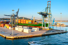 Port in Ancona, Italy. View of Industrial commercial port in the morning. Ancona, Italy royalty free stock images