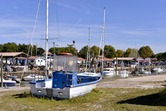 Port of  Andernos-les-bains in France Royalty Free Stock Photography