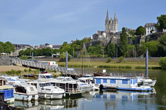 Port of Angers in France Royalty Free Stock Photography
