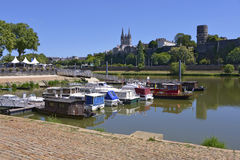 Port of Angers in France Stock Photo