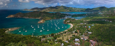 Port anglais, Antigua Photo stock