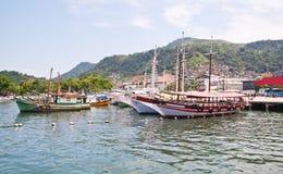 Port in Angra dos Reis. Rio de Janeiro royalty free stock images