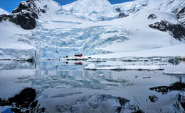 Port Antarctique de paradis photographie stock