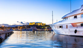 The port of Antibes and the fortress Stock Image