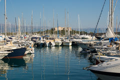 Port of Antibes on the French Riviera Royalty Free Stock Photography