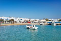 The port of Antiparos island, Greece. Boats at the port of Antiparos island, Greece stock images