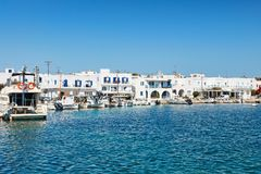The port of Antiparos island, Greece. Boats at the port of Antiparos island, Greece stock image