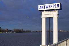 Port of Antwerp stock photo