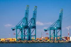 Port of Antwerp, Belgium Stock Photo