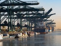 Port of Antwerp. Royalty Free Stock Images