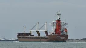 Port Aransas, TX - 5 Feb 2015: Cargo Ship Fagelgracht is heading toward Port Aransas. Port Aransas, TX - 5 Feb 2015: Cargo Ship Fagelgracht is heading toward stock video