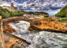 Port area of Biarritz - France Stock Image