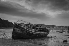 Port area of Conwy, Clwyd, Wales, United Kingdom, Europe Royalty Free Stock Images