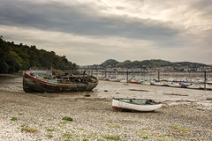 Port area of Conwy, Clwyd, Wales, United Kingdom, Europe Stock Photos