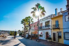 The Port in Javea, Spain. The Port area in Javea, Spain Stock Image