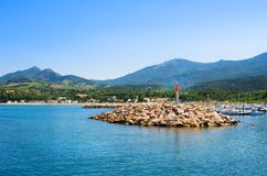 Port Argeles-sur-Mer in Pyrenees-Orientales department, Languedoc-Roussillon region, southern France. Port Argeles-sur-Mer in Pyrenees-Orientales department Royalty Free Stock Photography