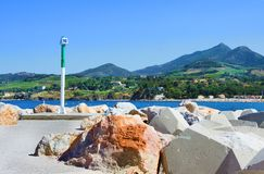 Port Argeles-sur-Mer in Pyrenees-Orientales department, Languedoc-Roussillon region, southern France. Port Argeles-sur-Mer in Pyrenees-Orientales department Stock Images