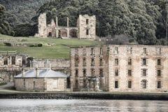Port Arthur construisant en Tasmanie Images libres de droits