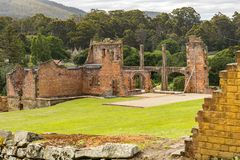 Port Arthur Hospital Ruins royaltyfria foton