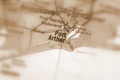 Port Arthur, miasto w U S fotografia stock