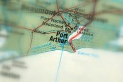 Port Arthur, miasto w USA obraz stock